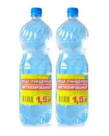 Вода очищенная дистиллированная 1,5 л - ВЗБН (Беларусь)