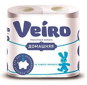 Бумага туалетная VEIRO (4 рулона/упак) - ТИ-ТРЕЙД (Россия)
