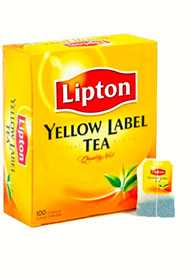 Чай черный LIPTON Yellow Label 100 пак./упак -LIPTON (Россия)