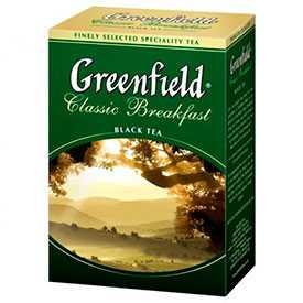 Чай черный крупнолистовой GREENFIELD 'Classic Breakfast' 100г -GREENFIELD (Россия)