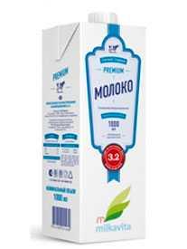 Молоко ультрапастеризованное м.д.ж. 3,2% в упаковке TBA Square