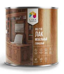 Лак НЦ-218 (мебельный) глянцевый, 2л - ЛАКОКРАСКА (Беларусь)