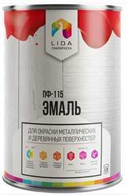 Эмаль ПФ-115 У, 1л - ЛАКОКРАСКА (Беларусь)