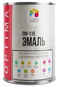 Эмаль ПФ-115 Lida Optima, 1л - ЛАКОКРАСКА (Беларусь)
