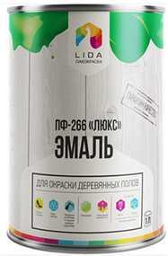 Эмаль ПФ-266 Люкс, 1л - ЛАКОКРАСКА (Беларусь)