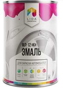 Эмаль МЛ-12 К, 1л - ЛАКОКРАСКА (Беларусь)