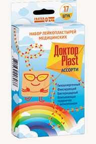 Набор лейкопластырей Доктор PLAST Ассорти - ГАЛТЕЯФАРМ