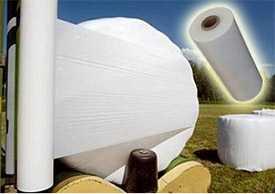 Агро-стретч (сенажная) пленка белая, 1500 и 1800 м.п., ширина - 750 и 500 мм, разрыв 50 кгс