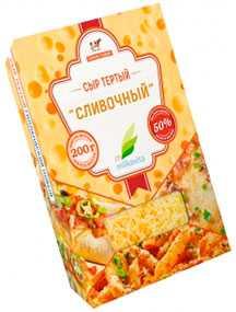 Сыр полутвердый 'Сливочный' м.д.ж. 50% тертый