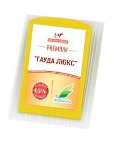 Сыр полутвердый 'Гауда Люкс' м.д.ж. 45%