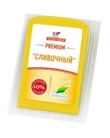 Сыр полутвердый 'Сливочный' м.д.ж. 50%