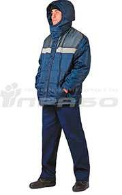 Куртка рабочая утепленная Эльбрус мужская т.синий/серый - ПРАБО