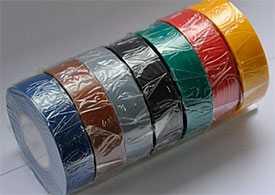 Клейкая электроизоляционная лента 19мм*25м синяя