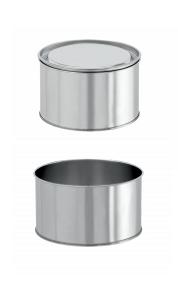 Банка для шпаклёвки d= 145 мм, h= 65 мм (для химической продукции) - Силган Метал Пэкаджинг