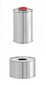 Бидон (ровный) d= 109 мм, h= 131 мм (для химической продукции) - Силган Метал Пэкаджинг