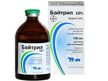 Препарат ветеринарный Байтрил 5%, 100 мл - BAYER