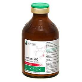 Препарат ветеринарный Тилозин 200, 20 мл -НИТА-ФАРМ