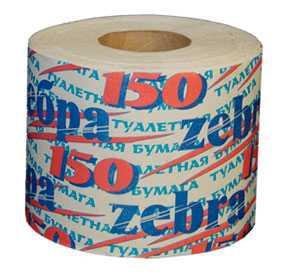 Бумага туалетная Zebra 150 (вторсырье)- ПОЛОЦКАЯ БУМАЖНАЯ КОМПАНИЯ