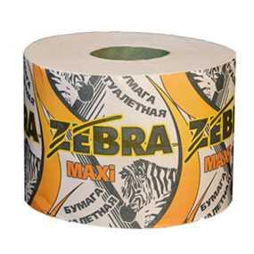 Бумага туалетная Zebra Макси (вторсырье) - ПОЛОЦКАЯ БУМАЖНАЯ КОМПАНИЯ