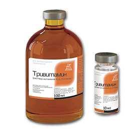 Препарат ветеринарный Тривитамин (раствор витаминов А,Д3,Е в масле), 100 мл - Агрофарм