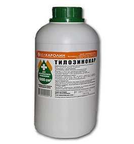 Препарат ветеринарный Тилозинокар, 1 л -Белкаролин