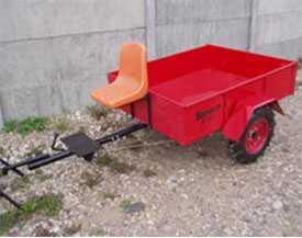 Тележка для мотоблока ТМ-2/550 с пластиковым сиденьем, колеса 5Lx12 - Механический завод ООО (Беларусь)