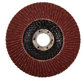 Круг лепестковый торцевой КЛТ1 115х22,23 мм, Ткань А40, 80 м/с - ЛУЖСКИЙ АБРАЗИВНЫЙ ЗАВОД