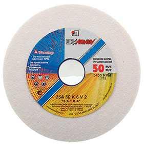 Круг шлифовальный Тип 1, 125х20х32 мм, 25А 60 K-O 6 V, 50 м/с (керамика) - ЛУЖСКИЙ АБРАЗИВНЫЙ ЗАВОД