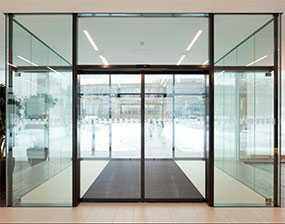 Двери автоматические раздвижные GEZE Slimdrive - GEZE (Германия)