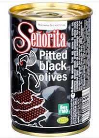 Маслины без косточки SENORITA, 280 мл - OLIVE LINE INT