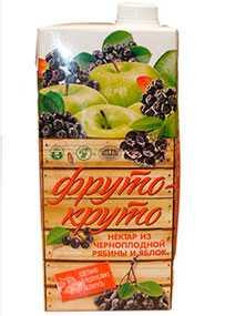 Нектар ФРУТО-КРУТО из черноплодной рябины и яблок, 1 л - ТОЛОЧИНСКИЙ КОНСЕРВНЫЙ ЗАВОД