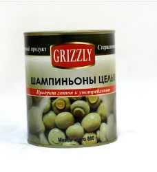Шампиньоны консервированные GRIZZLY, целые, 800 гр - Жангжоу Юхинг Имп.& Ехп.Традинг Ко