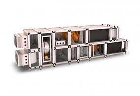 Приточно-вытяжная вентиляционная установка AV 2.5 (L=3000 м3/ч, Р сети=350 Па) - VERTRO