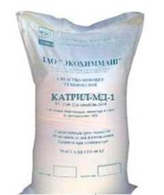 Среднещелочное моющее и дезинфецирующее средство Катрил-МД-1 (порошок) - ЭКОХИММАШ