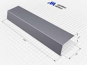 Карнизная планка (100х69х2000 мм) - АРСЕНАЛМЕТАЛЛ
