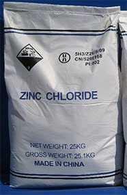 Цинк хлористый, мешок 25 кг (Китай)