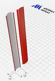 Штакетник односторонний (20x125 мм) - АРСЕНАЛМЕТАЛЛ