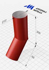 Колено (круглое сечение, d=100 мм) - АРСЕНАЛМЕТАЛЛ