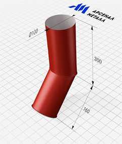 Отмет (круглое сечение, d=100 мм) - АРСЕНАЛМЕТАЛЛ