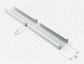 Профиль потолочный ПЛ 60-27 (60х27х3000 мм, толщина=0,5 мм) - АРСЕНАЛМЕТАЛЛ