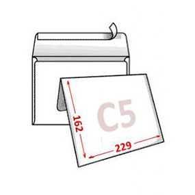 Конверт С5 (162х229 мм), 0+0, силиконовый клапан - БУМАЖНАЯ ФАБРИКА ГОЗНАКА