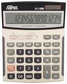 Калькулятор настольный FO11009 Forpus, 16 разрядов, 2-е питание - FORPUS