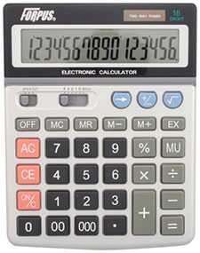 Калькулятор настольный FO11008 Forpus, 16 разрядов, 2-е питание - FORPUS