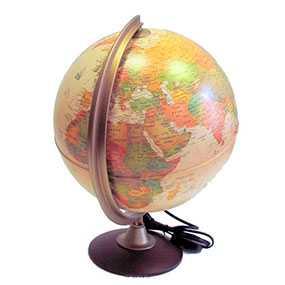 Глобус COLOMBO арт. 0325COL, политический, диаметр 25 см, с подсветкой - NOVA RICO