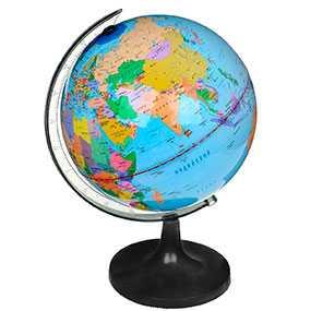 Глобус ROTONDO арт. RG20/DB/L, физический и политический, диаметр 20 см, с подсветкой - ROTONDO