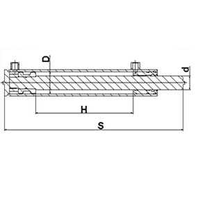 Гидроцилиндр поршневой ЦГ 100.80.H.S – 22 (d гильзы=100 мм, d штока=80мм) – МЕХПРОФИЛЬ