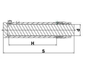 Гидроцилиндр плунжерный ЦГП2 56.H.S- 22 (d штока=56 мм) – МЕХПРОФИЛЬ