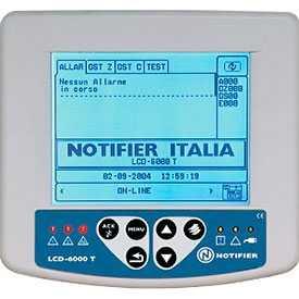 Приемно-контрольный пожарный прибор LCD-6000T - NOTIFIER
