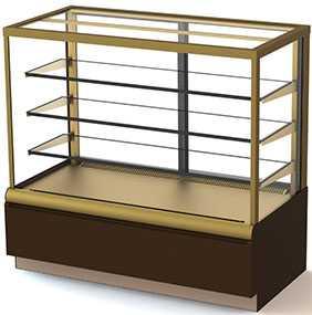 Кондитерская витрина холодильная ВХСв-1,3д Carboma Cube ЛЮКС 0 +7 - Carboma