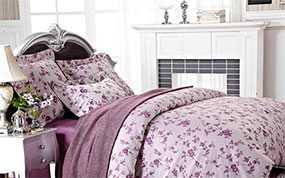 Белье постельное, модель ЭЛЕГАНТ (сакура - черничный) - Лангхайнрих Конфекцион Бел